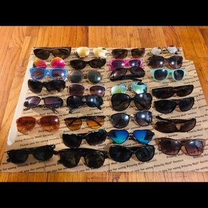 Lot 30 Sunglasses Scratches On Lenses